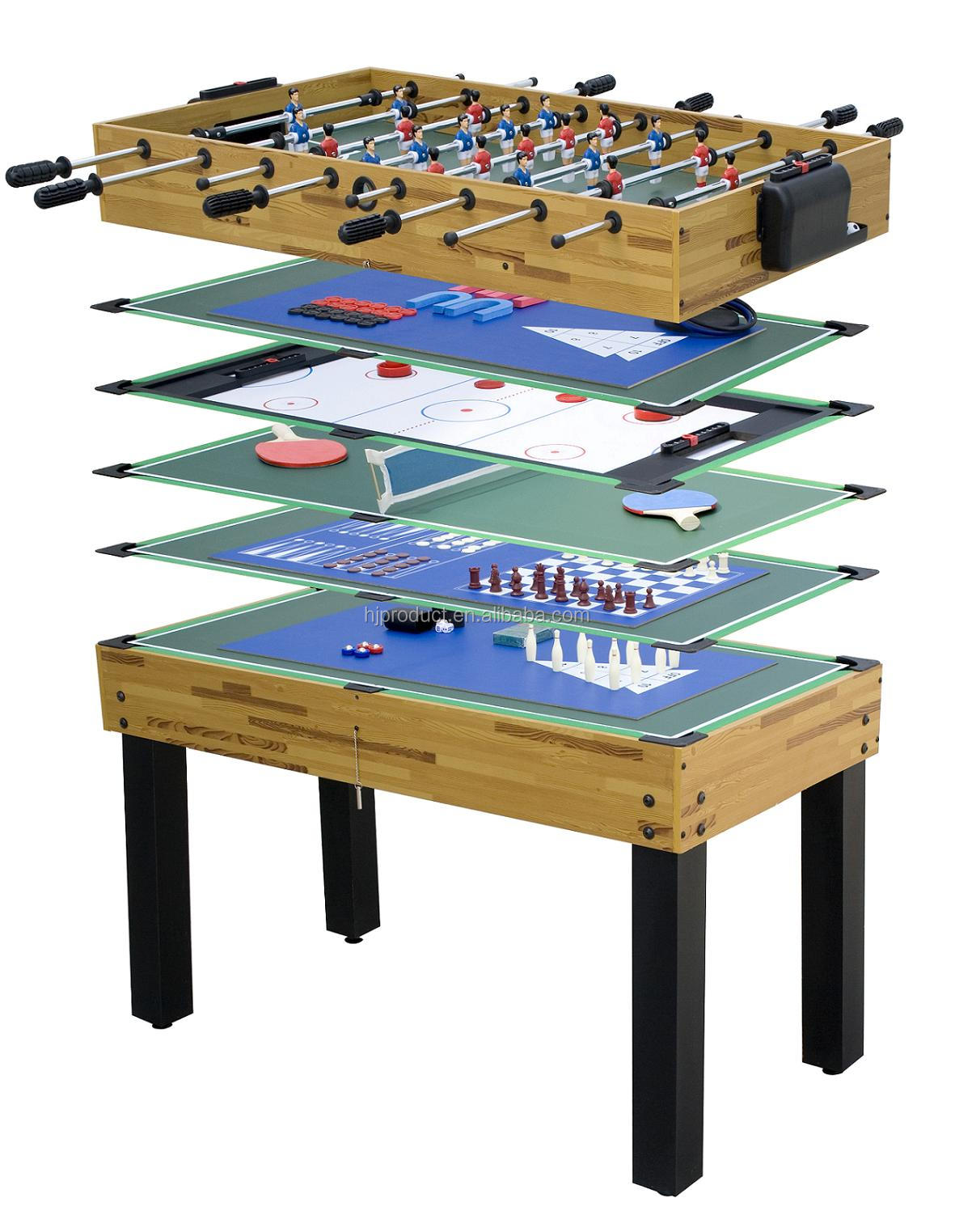 12 in 1 family play kid 39 s multi game table 48inch indoor for Table 6 games