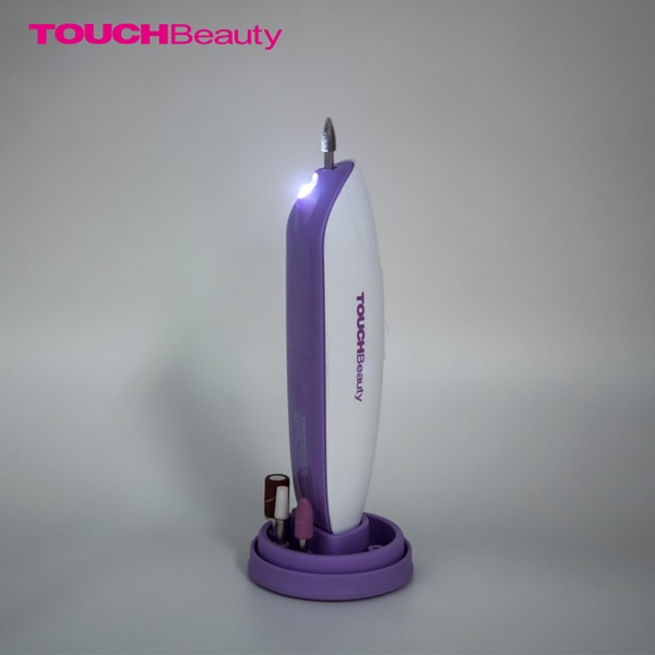 Touchbeauty multifunctional electric manicure pedicure set with LED light