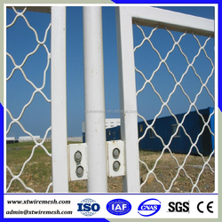 Fence pvc coated beautiful grid mesh wire mesh fence panel