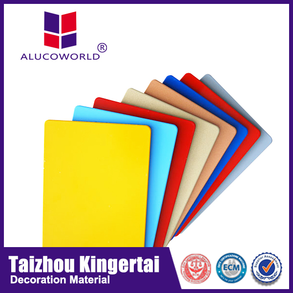 Alucoworld cheap price plastic recycle 3mm aluminum composite panel