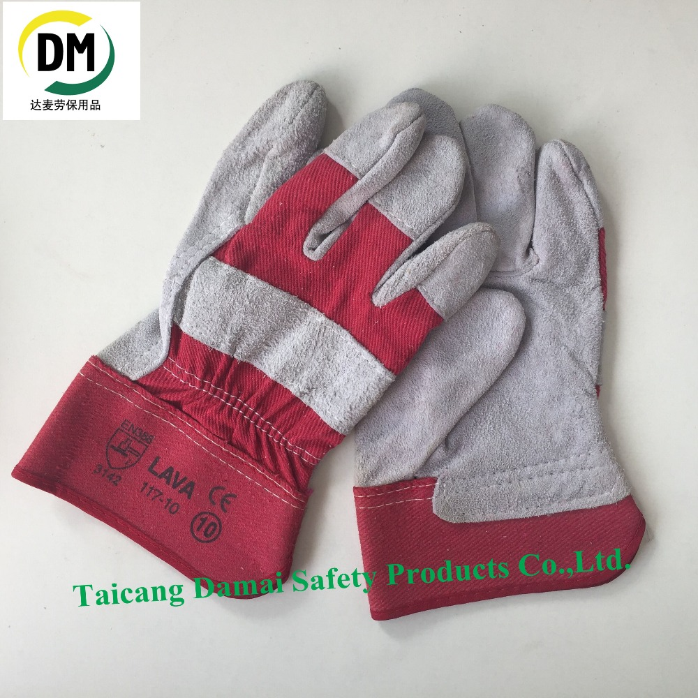 Short Cow Split Leather Hand Protection Welding Working Glove