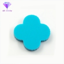 Loose synthetic turquoise four leaf clover gemstone for pendant