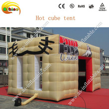 2015 New arriving best handwork Party inflatable cube tent