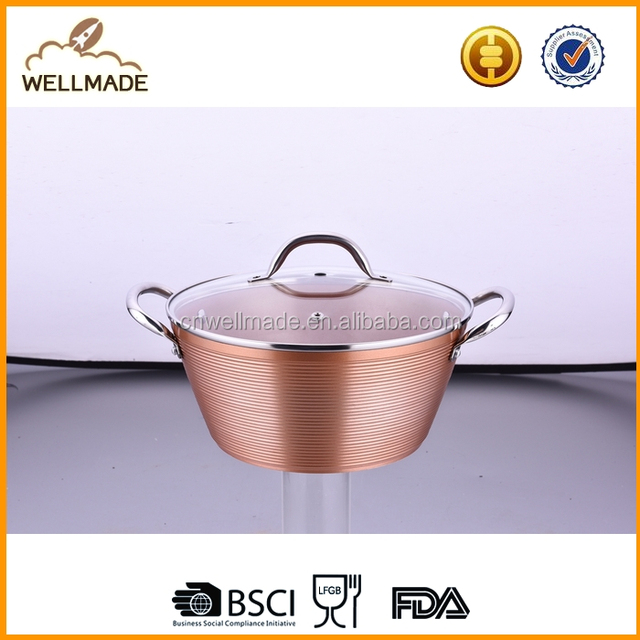 Special forged aluminum copper casserole with stainless steel handle