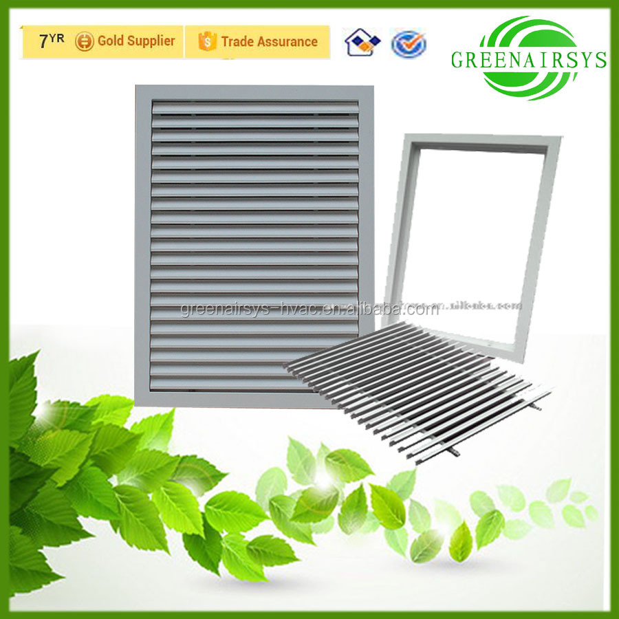 Aluminum Removable Return Air Louvered Fence with Mesh for Wall Ventilation