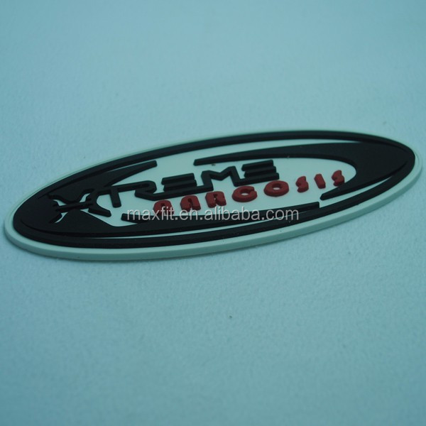 Custom 3d high quality round rubber patch, custom rubber patch with reasonable price