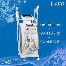 The real SHR OPT Elight ipl rf laser machine Newest Technology Beauty Salon machine Made In China
