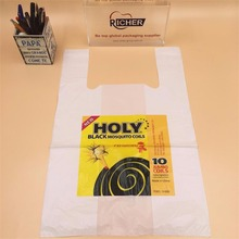 Resealable Disposable Plastic T-Shirt Bag with Own Design Print
