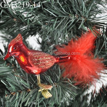 handpianted glass bird hanging ornament for decoration