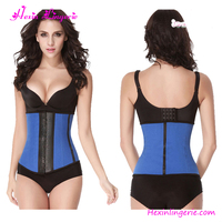 Cheap Hook Steel Boned Latex Steel Boned Hot Women Sex Blue Corset