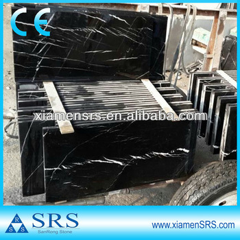 Black marble with white veins China Black Marquina Marble
