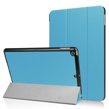 "Ultra Slim Tri-Fold PU Leather Case for 9.7 inch 2017 new released Ipad 9.7"" tablet"