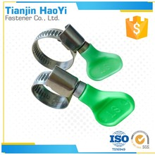 High Quality Galvanized Steel Germany Hose Clamp With Turn Key