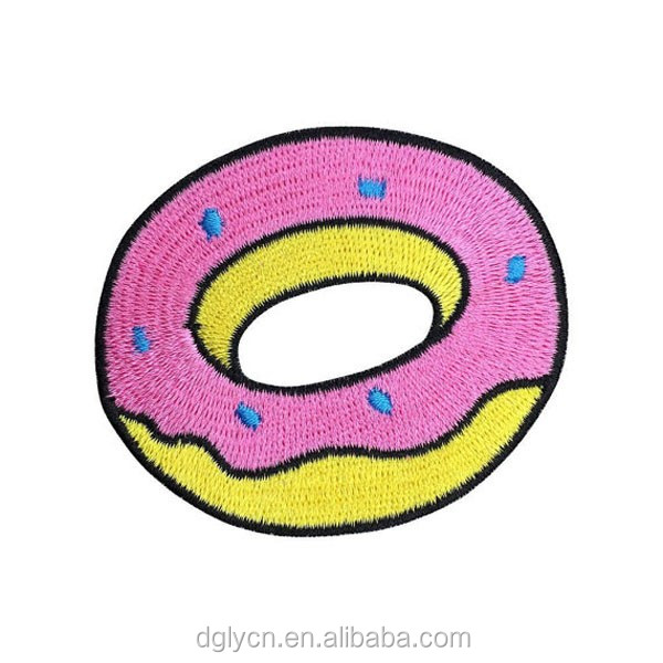 Cake/Donut Embroidered Patch Iron On Patches Sewing Applique Badge Clothes Patch Stickers Apparel Craft Sewing Accessories