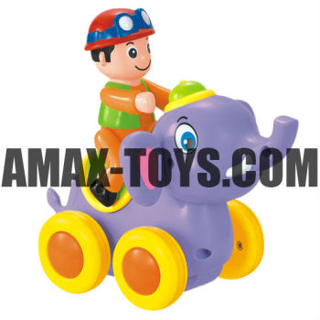 bte-576366A Friction elephant cartoon elephant with 4 wheels