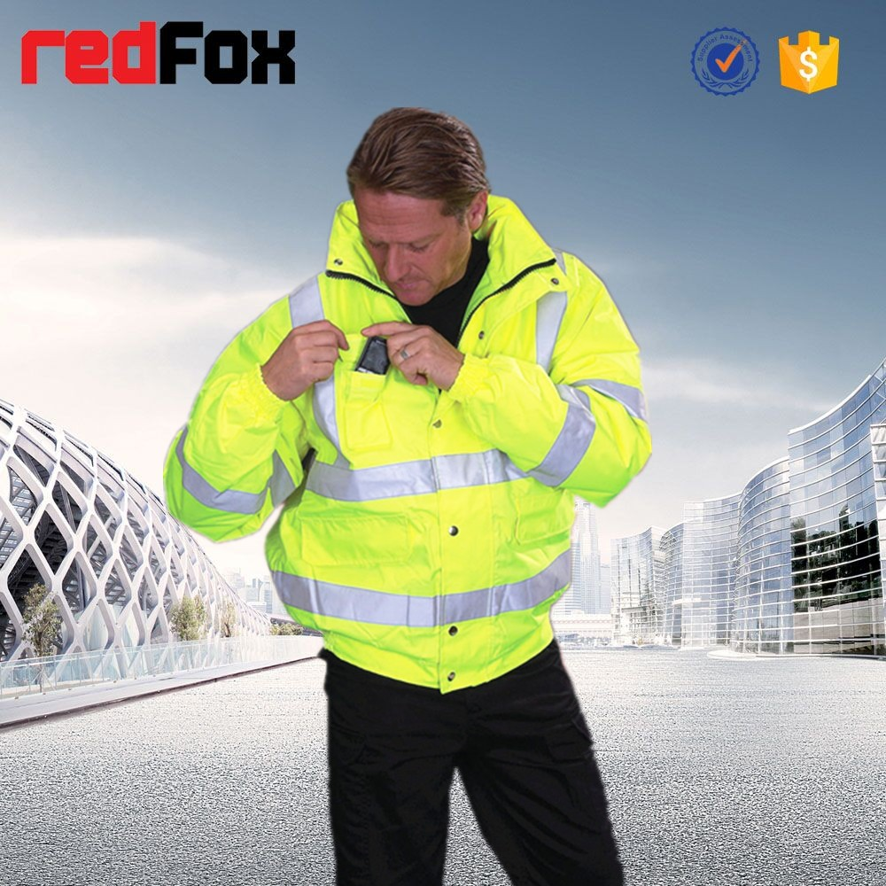 EN471 hi-viz protective workwear men winter jacket