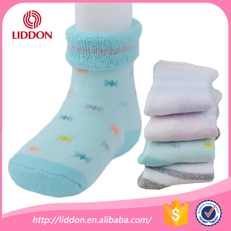 Safety foot care for cute baby socks manufacture supplier terry loop style extremely soft baby sock wholesale