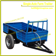 single-axle fram trailer for 15- 40 hp tractor