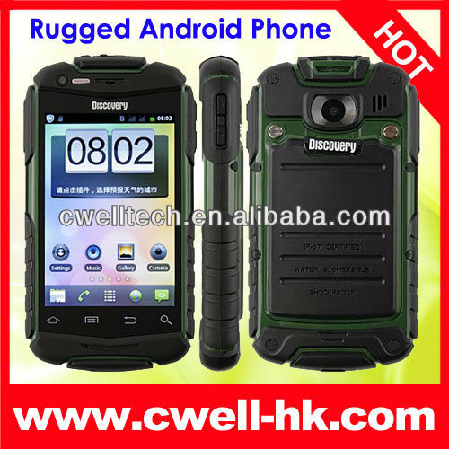 Hot selling shockproof android phone discovery v5