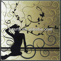 Hot selling! Modern cartoon design art 3d giclee canvas printing of sex women for wall decoration on sale