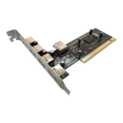 PCI USB2.0 4+1 Port Card UPD7202101 EC 4+1 Port USB2.0 PCI CARD 5-Port USB 2.0 PCI Controller Card (4+1)
