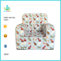 China Ningbo Dearbebe Korea Children Furniture Child Armchair Flip Foam Kids Mini Sofa