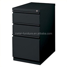 New Design Steel Office Furniture Manufacture Mobile Metal Black Colour Iron File Cabinet
