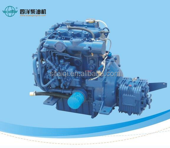 High speed marine diesel engine with gearbox for total enclosed lifeboat 26Hp
