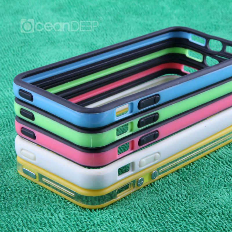 wholsale PC TPU two color bumper case for iphone5 combo case