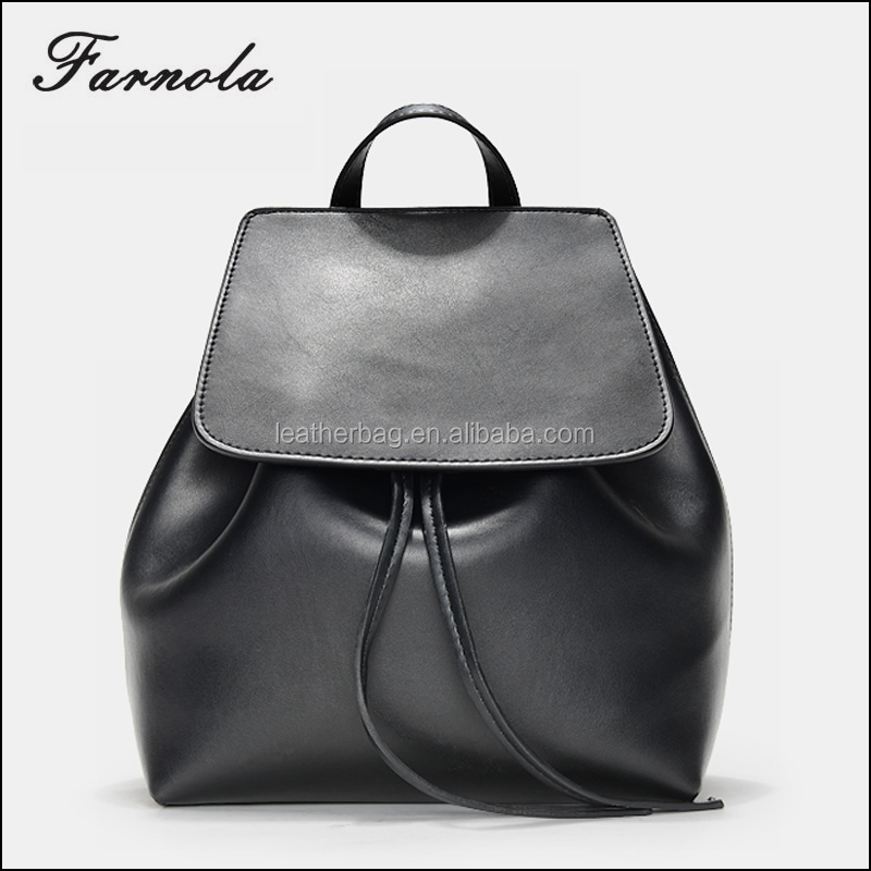 Fashion Luxury Genuine Leather Custom new design 2017 women's backpack bag for wholesale