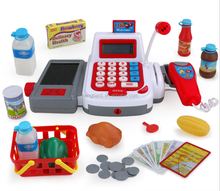Cash Register Toys Simulation Supermarkets Shopping Cashier Toy Puzzle early Educational toy