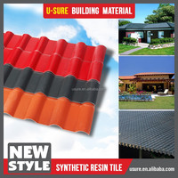 heat insulation water resistance undulated sheds with synthetic resin tile