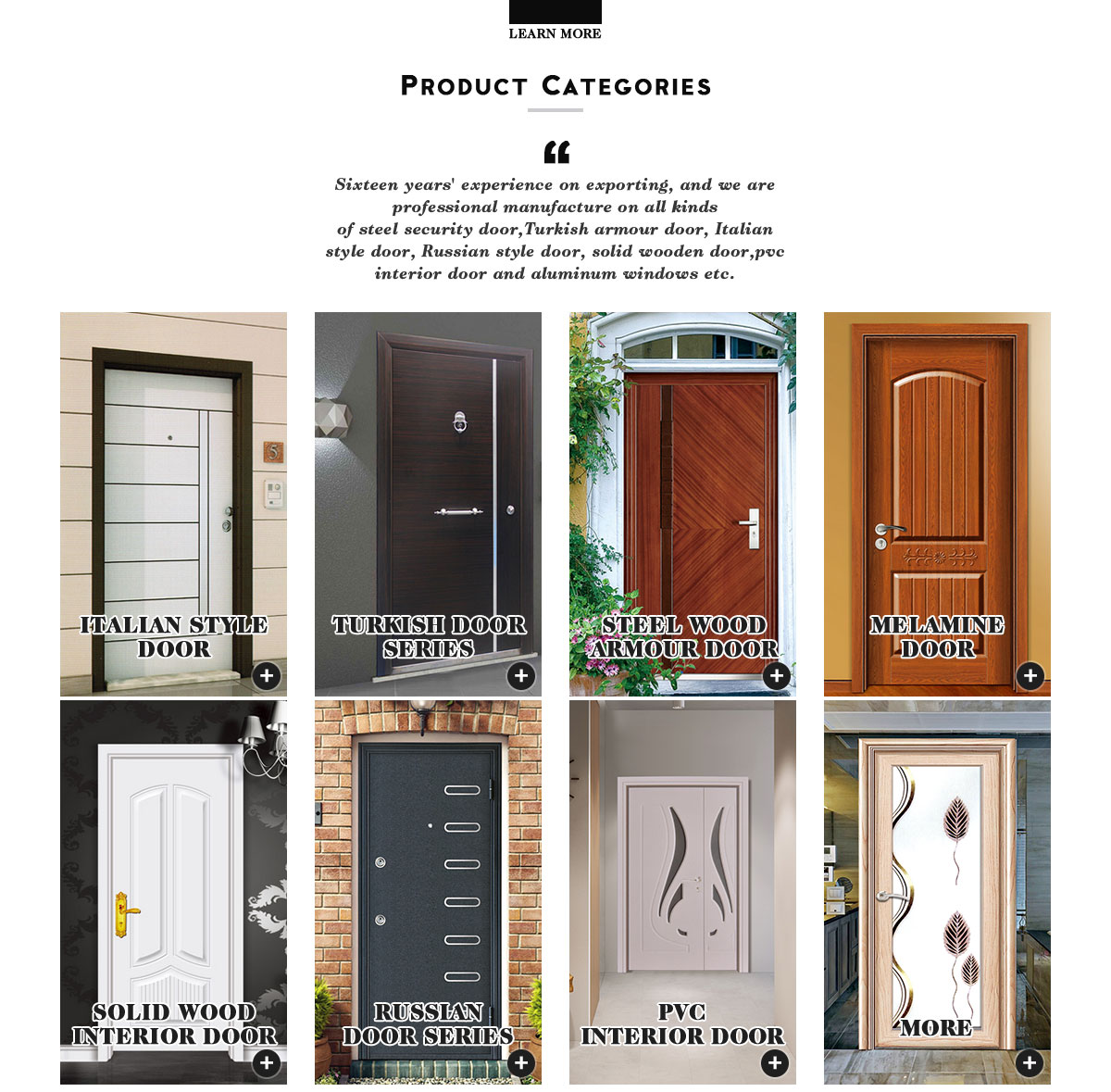 Zhejiang Hongtuo Industry Co., Ltd. - entrance door, wooden door
