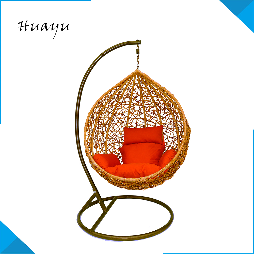 High quality outdoor Sophisticated synthetic rattan woven nest bed hanging indoor swing chair with stand for sale
