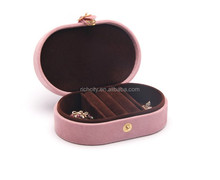 J12 Oval Shaped Multi-Functional Jewelry Collection Plastic Gift Box With Handle & Buckle(J12)