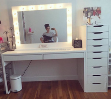 professional studio makeup mirror with led lights hair salon mirror with lighting table top makeup vanity