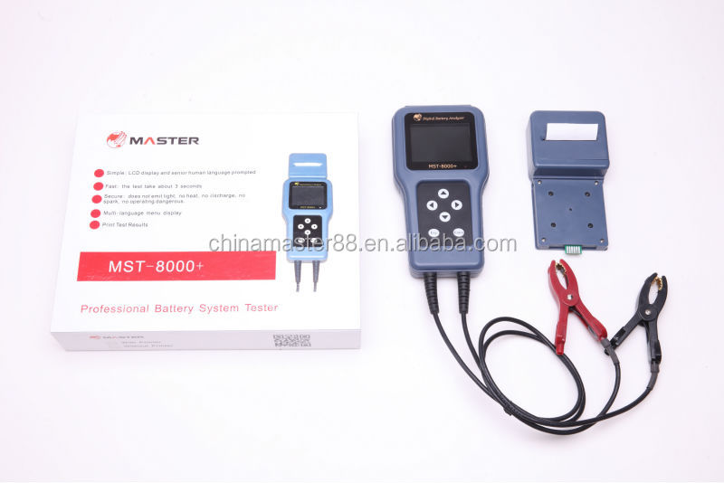 handheld car digital battery analyzer battery system tester MST-8000+ with detachable printer
