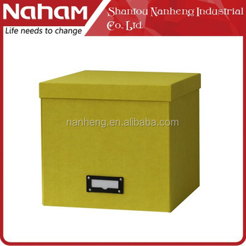 NAHAM Stylish Decorative Paper Cardboard Storage Boxes With Lids