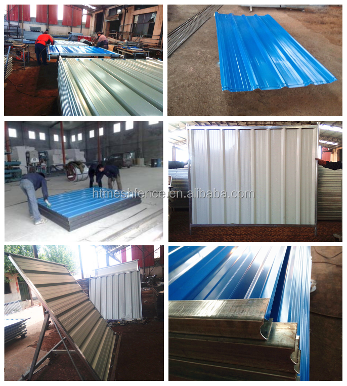 Construction Sites Temporary Solid Metal Hoarding Fence Colorbond