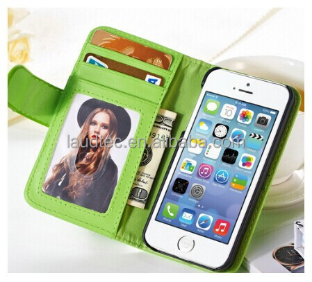 New Wallet Case For Apple iPhone 5 5S 5G Magnetic Flip PU Leather Case with Photo Frame Card Holder Smart Stand Skin Bags Cover