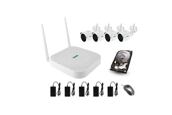 Cantonk 2mp 1080p p2p wifi security camera system wireless cctv kit with 400m wifi range