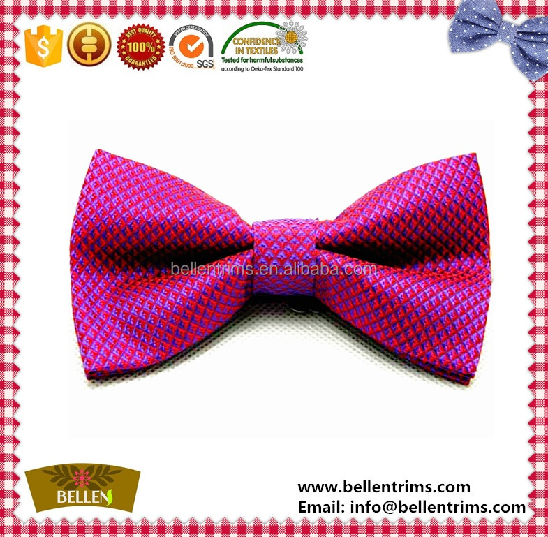 Wholesale wedding party burgundy bow tie