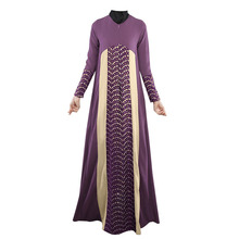 Abaya Dubai Kaftan Long Sleeve Muslim Evening Embroidery Beaded Maxi Dress for sale 2w-6