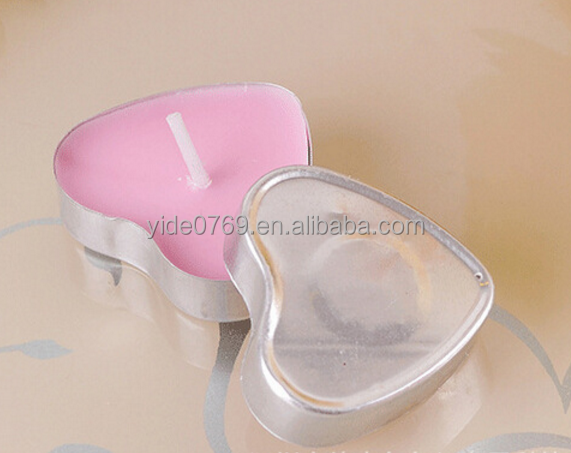 YD-02 Heart Shape Aluminium Candle Cup