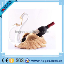 custom resin swan wine bottle holder for wedding decoration