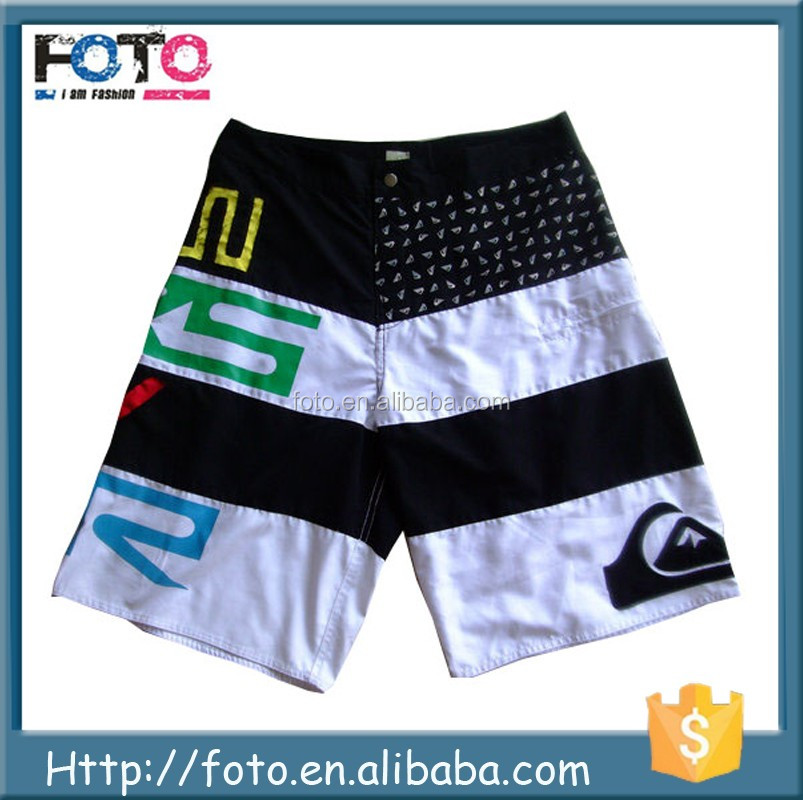 2017 OEM Service Custom Sublimation 4 Way Stretch Mens Beach Board Shorts To Surf And Swim