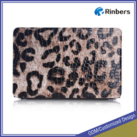 Factory Wholesale Zebra/Leopard/UK/US Newspaper PU Leather Case for MacBook Air 11.6 13.3 Pro Retina 13 15 Cover
