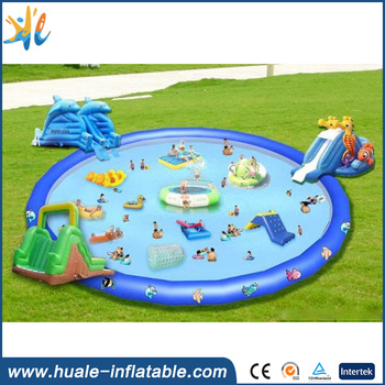 Commercial outdoor inflatable water park games, inflatable aqua amusement park