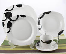 Cow dinnerware/home utensils china/italian ceramic square dinnerware set