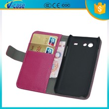VCASE cheap case leather flip back cover for samsung galaxy s advance i9070